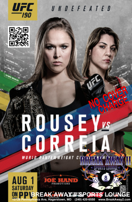 Rousey vs Carreia fight