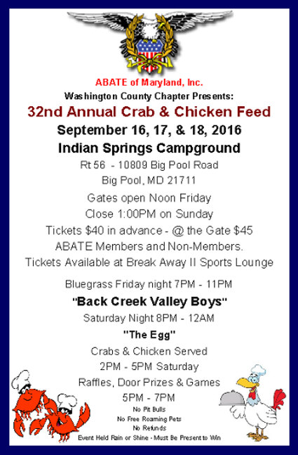 09162016 - ABATE Crab and Chicken Feed