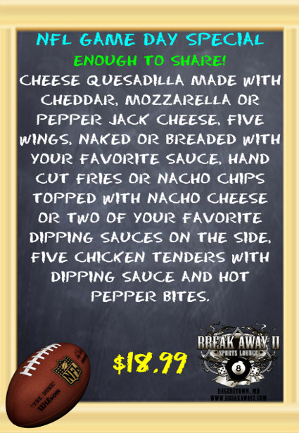 NFL game day special