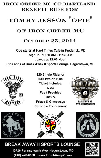 iron order ride for tommy jesson