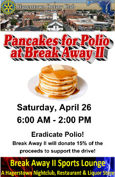 pancakes for polio charity event