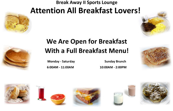 restaurant open for breakfast sign