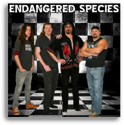 endangered species rock band group photo