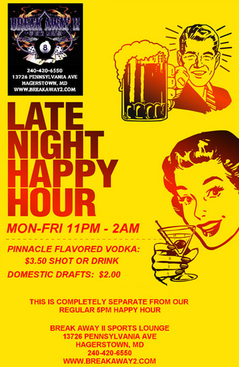late night happy hour banner