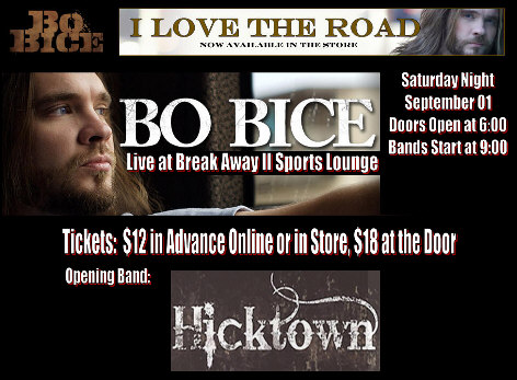 hagerstown nightclub, restaurant presents Bo Bice poster