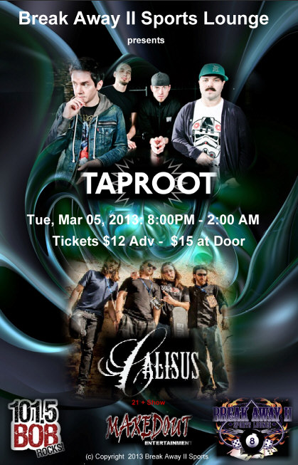 Taproot and Calisus bands poster