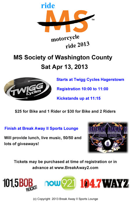 MS Bike Ride poster
