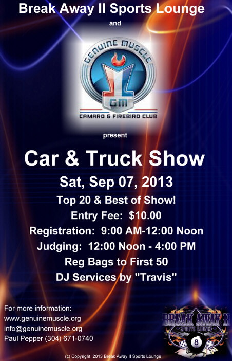car and truck show poster