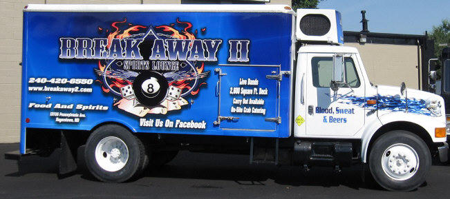 blue beer truck rental