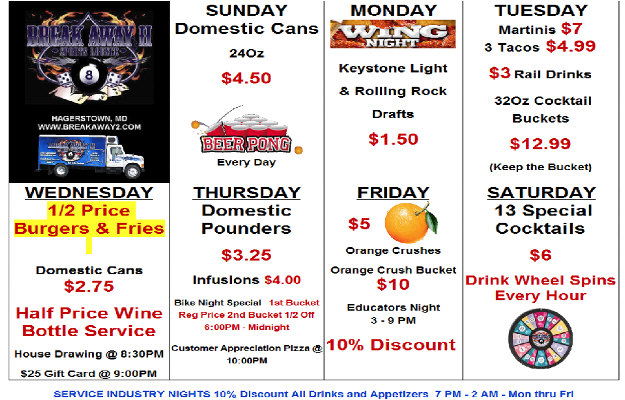 All Weekly Specials plain